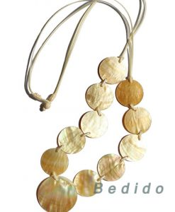Round MOP Shell Necklace