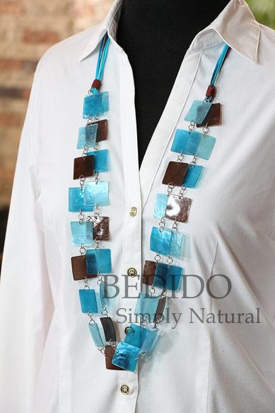 ladies capiz shell beach wear necklace
