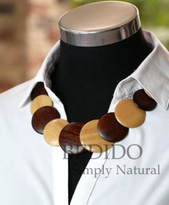womens wood necklace chunky