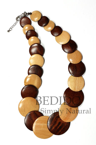 ladies wood necklace chunky