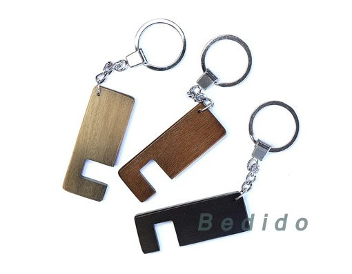 android stand keychain brown black gray