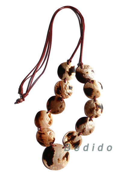 BrownLip Tiger Seashell Necklace