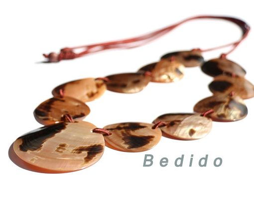 Brown Lip Tiger Shell Necklace